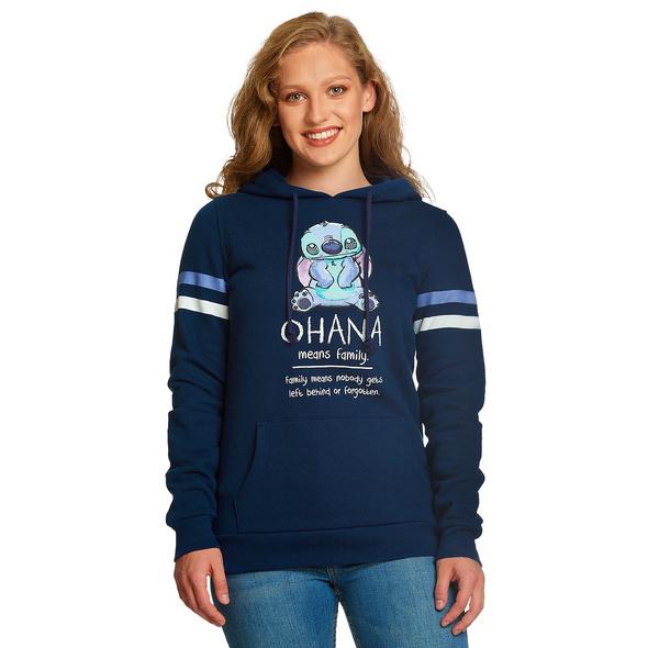 Lilo & Stitch - Ohana Means Family Hoodie Damen blau