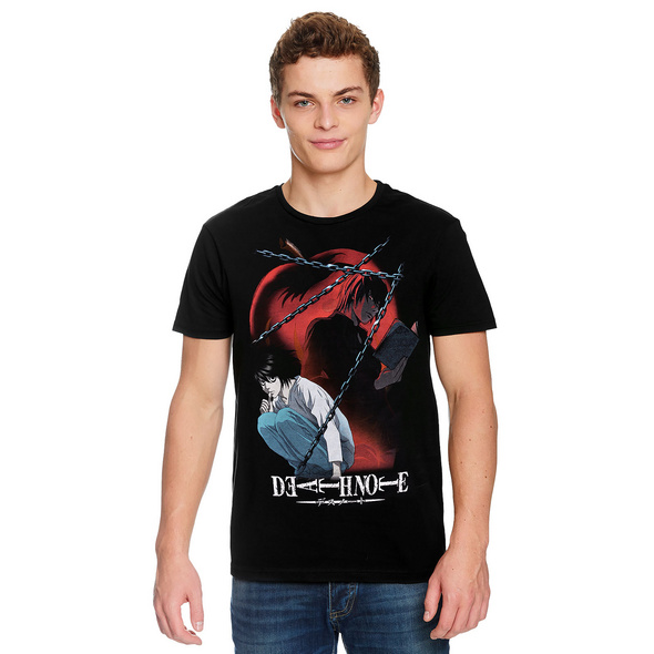Death Note - Chained Notes T-Shirt schwarz