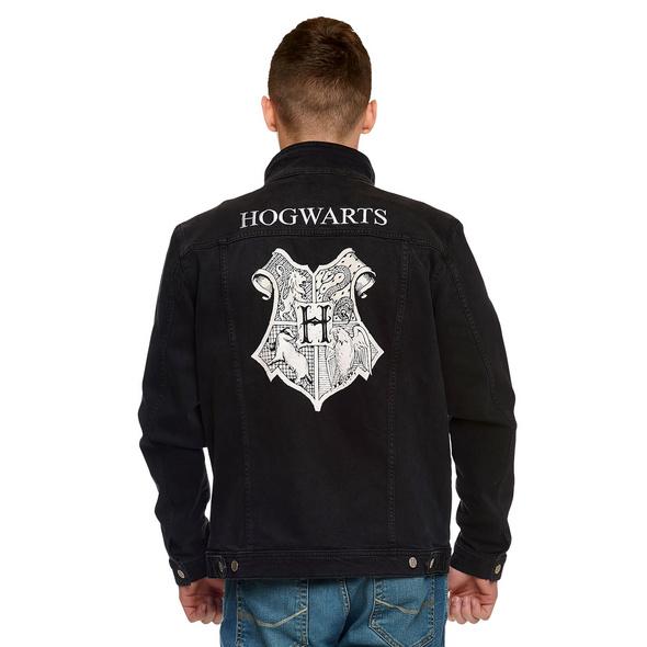 Harry Potter - Hogwarts Wappen Jeansjacke schwarz