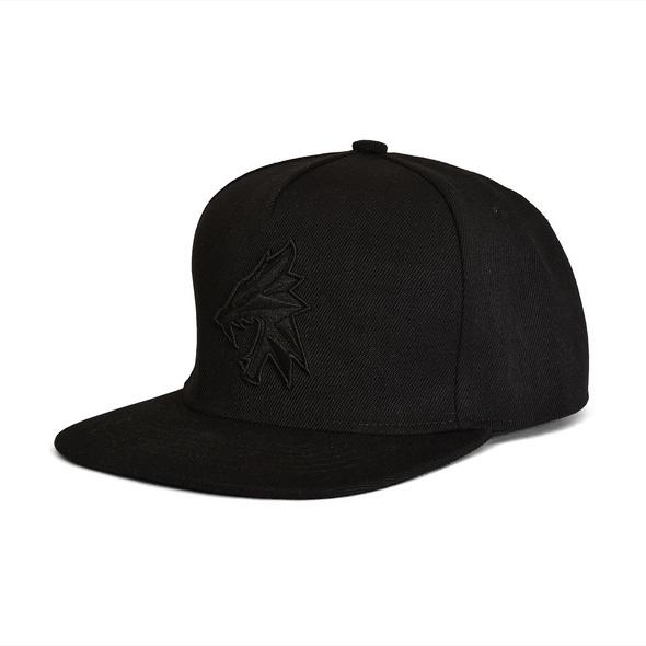 Witcher - Wolf Silhouette Snapback Cap schwarz
