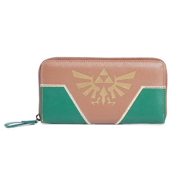 Zelda - Hyrule Logo Geldbörse grün-braun