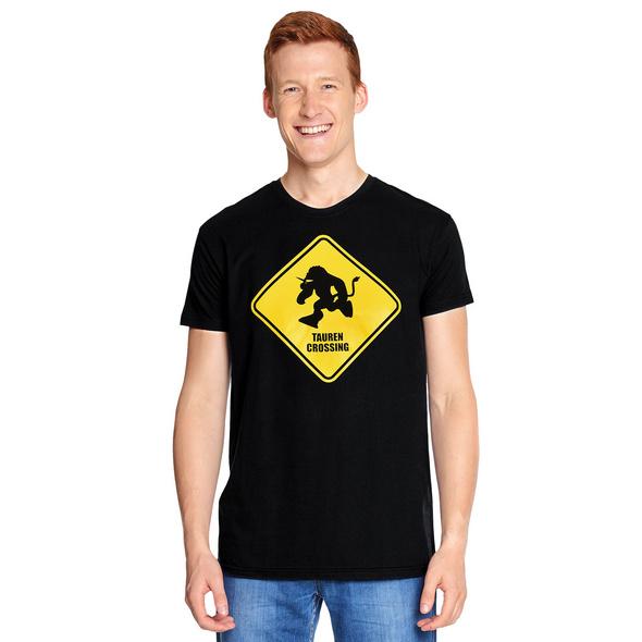 Tauren Crossing T-Shirt für World of Warcraft Fans schwarz