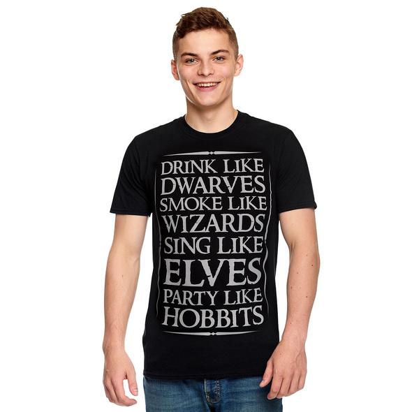 Mittelerde Party T-Shirt schwarz