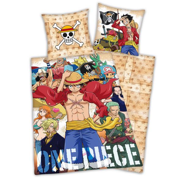One Piece - Strohhutbande Wende-Bettwäsche