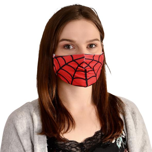 Spinnennetz Gesichtsmaske für Spider-Man Fans rot