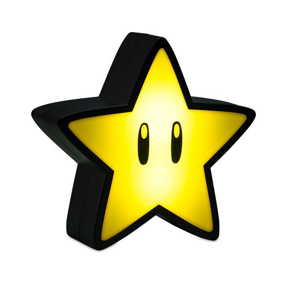 Super Mario - Super-Stern Tischlampe mit Sound