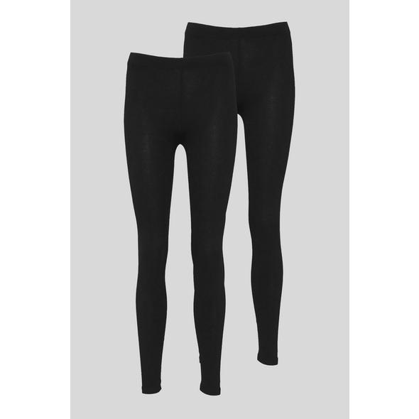 Multipack 2er - Basic-Leggings - Bio-Baumwolle
