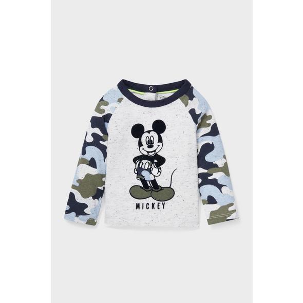 Micky Maus - Baby-Langarmshirt - Bio-Baumwolle