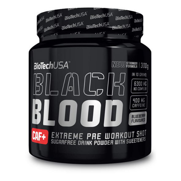 BiotechUSA Black Blood CAF+ 300g - Blueberry