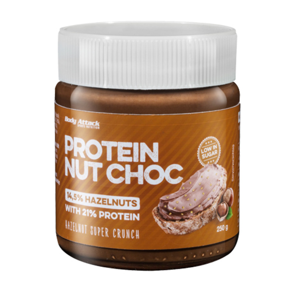 Body Attack Nut Choc Super Crunch 250g-Hazelnut Super Crunch