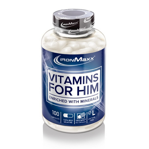 IronMaxx Vitamins for him 100 Kapseln