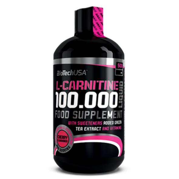 BioTechUSA L-Carnitine 100000 Liquid 500ml-Apfel