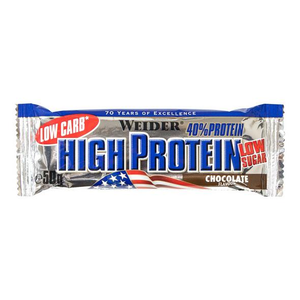 Weider Low Carb High Protein Bar 50g-Stracciatella