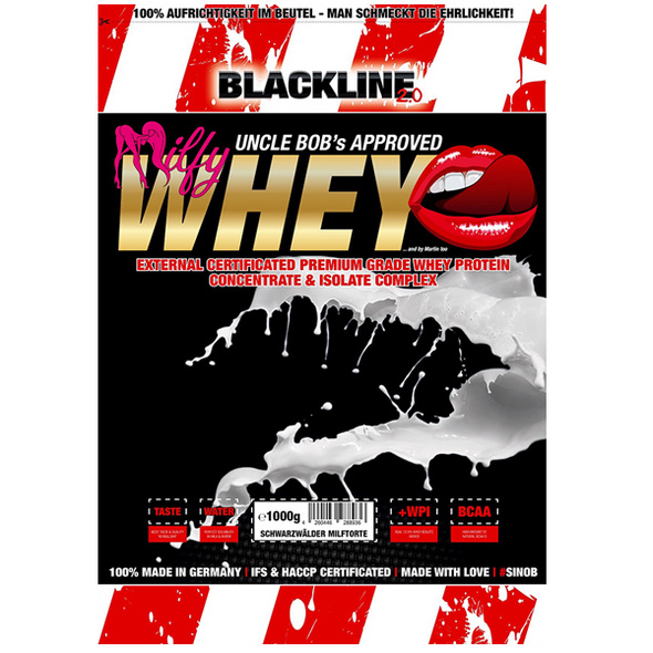 BlackLine 2.0 Milfy Whey 1000g-Heisse Milf mit Honig