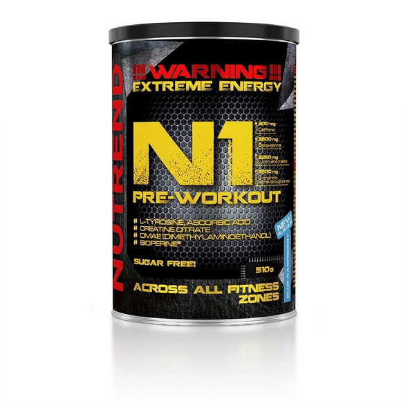 Nutrend N1 Pre Workout Booster 510g-Blackcurrant