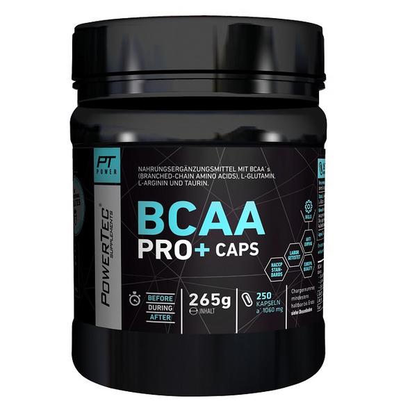 PowerTec BCAA Pro+ 250 Kapseln