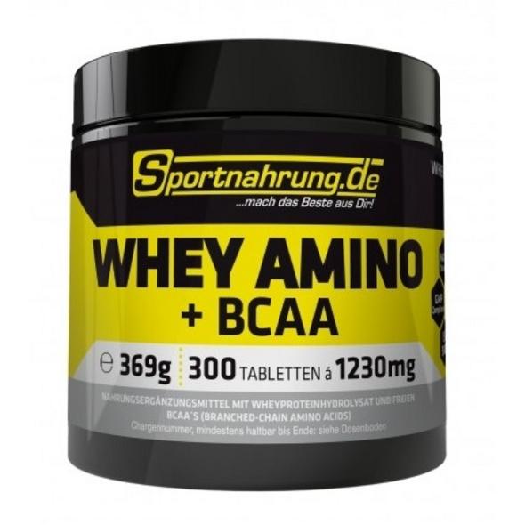 Sportnahrung.de WHEY AMINO + BCAA 300 Tabletten