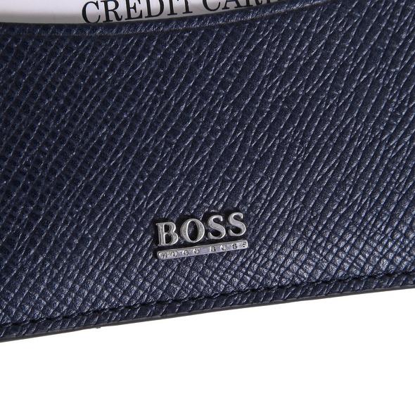 BOSS Münzbörse Signature Coin Case dunkelblau
