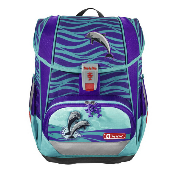 Step by Step Schulranzen Set 4tlg. Light 2 Happy Dolphins