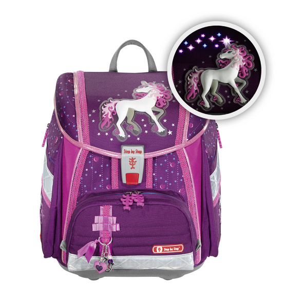 Step by Step Schulranzen Set 4tlg. Touch 2 Flash Unicorn