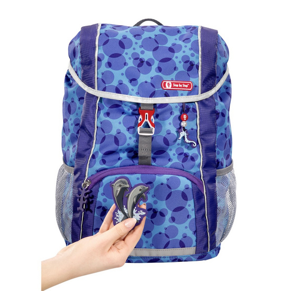 Step by Step Kinder Rucksack Set 3-tlg. Kid 13l Happy Dolphins