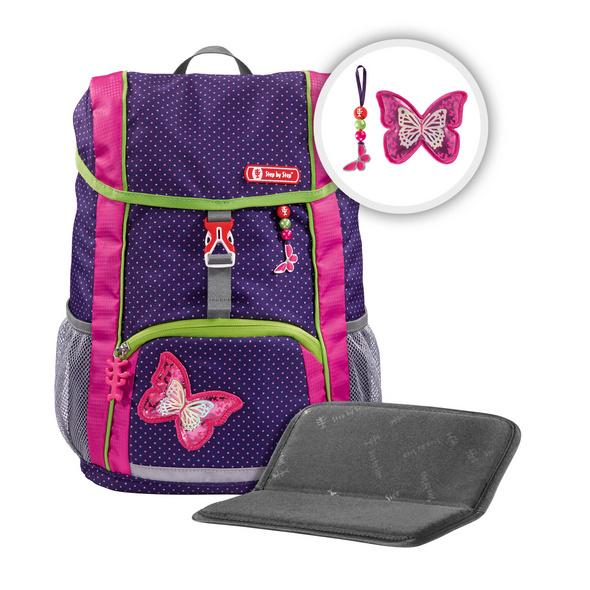Step by Step Kinder Rucksack Set 3-tlg. Kid 13l Shiny Butterfly