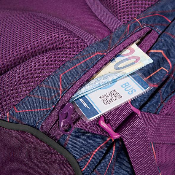 coocazoo Schulrucksack JobJobber 2 Match Patch 30l laserbeam plum