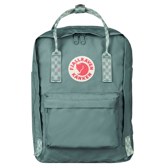 "Fjällräven Laptop Rucksack Kanken 13"" frost green/chess pattern"