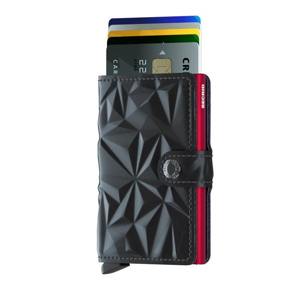 Secrid Kreditkartenetui Miniwallet prism black-red