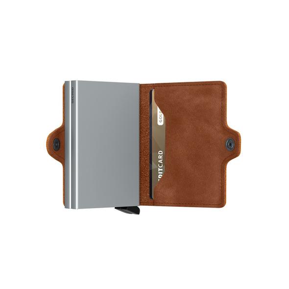 Secrid Kreditkartenetui Twinwallet vintage cognac-silver