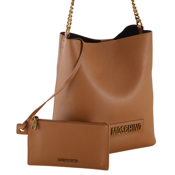 Love Moschino Kurzgriff Tasche JC4067 mittelbraun