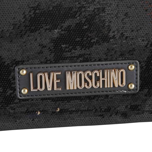 Love Moschino Abendtasche JC4105 dunkelgrau metallic