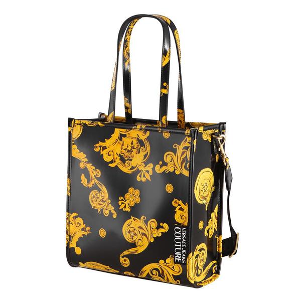 Versace Jeans Couture Kurzgriff Tasche Linea U DIS 7 schwarz barock print