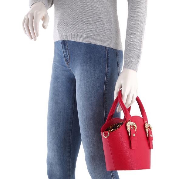 Versace Jeans Couture Kurzgriff Tasche Linea F DIS 4 schwarz