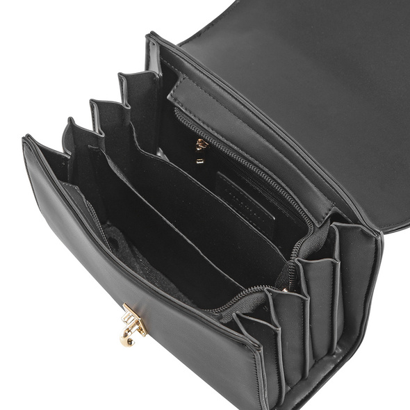 Seidenfelt Manufaktur Umhängetasche Kisa schwarz