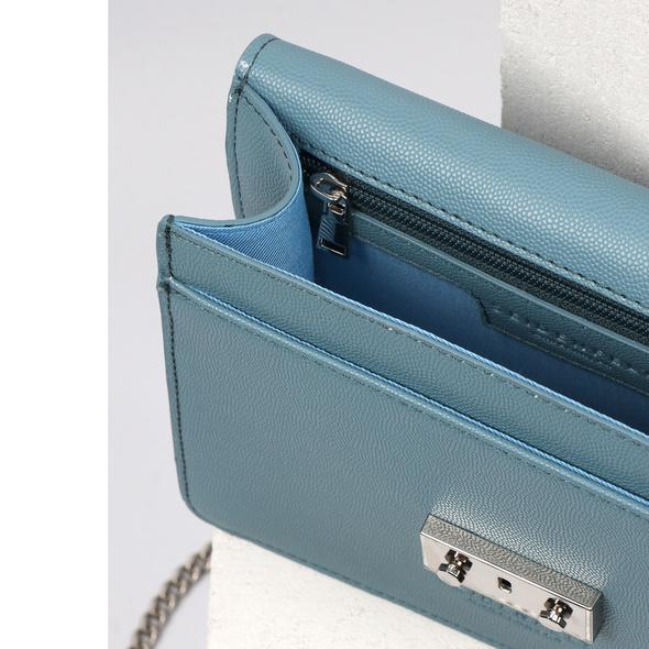 Seidenfelt Manufaktur Umhängetasche Roros blau