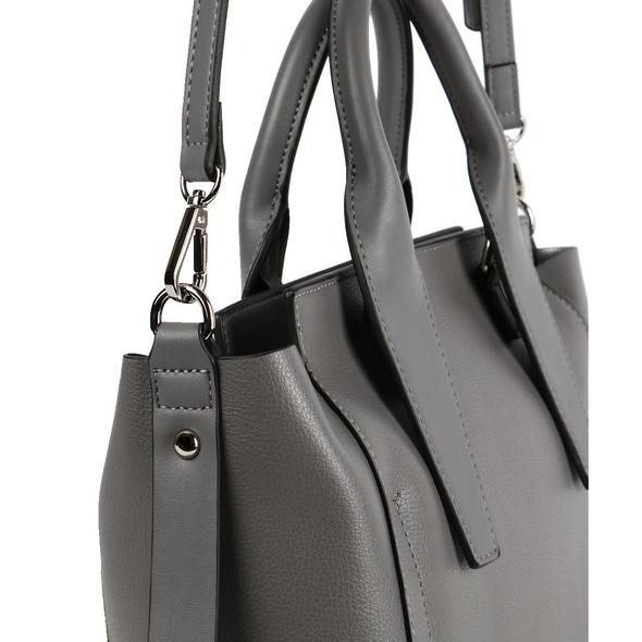 Seidenfelt Manufaktur Kurzgrifftasche Lulea grey