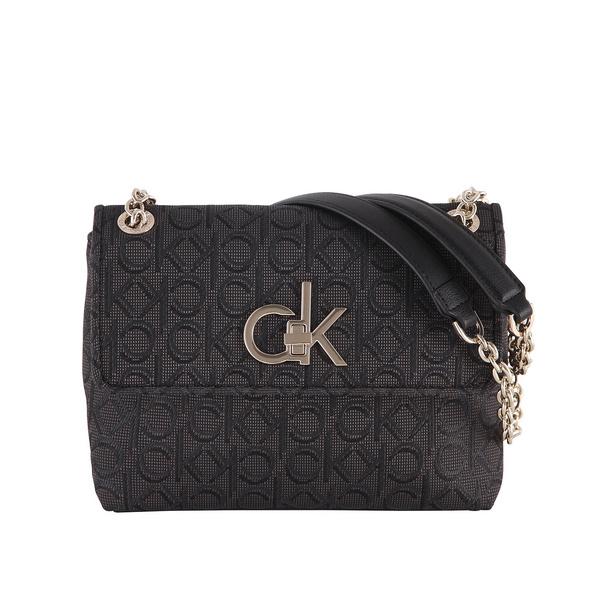 Calvin Klein Umhängetasche Re-Lock J Conv Crossbody black mix
