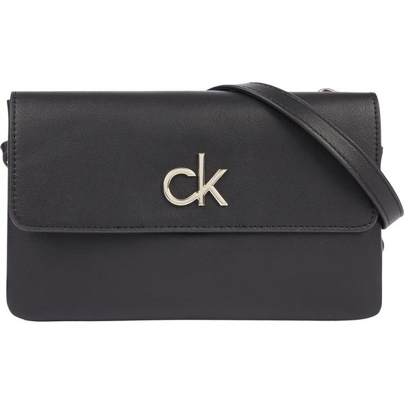 Calvin Klein Umhängetasche EW Double Compartment Xbody w/Flap ck black