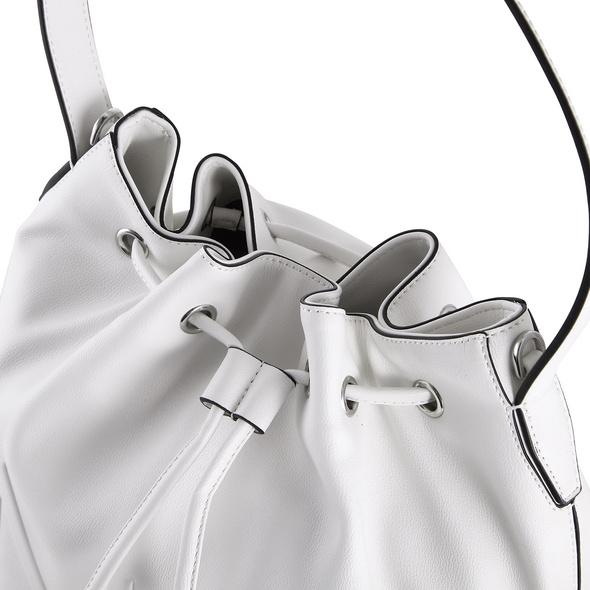 Calvin Klein Beuteltasche NY Shaped Drawstring MD white