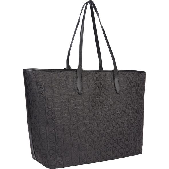 Calvin Klein Shopper Bag in Bag Shopper/Laptop Pouch Raffia JQ black monogram