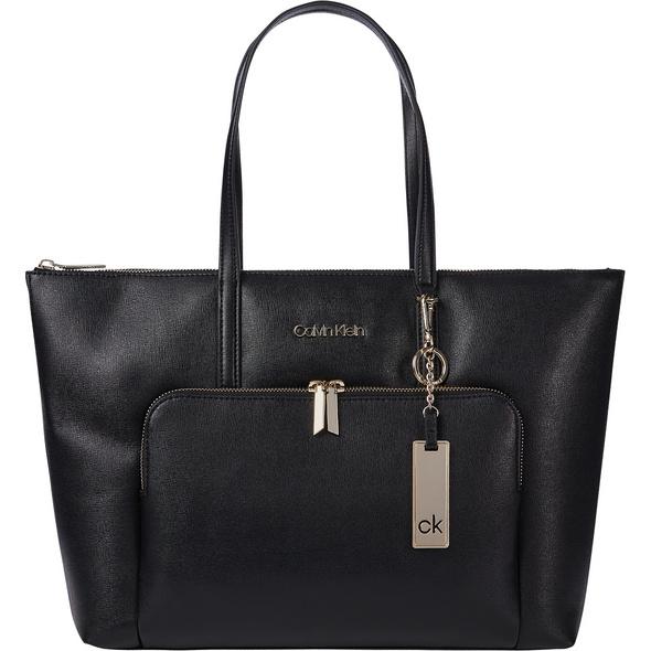 Calvin Klein Shopper LG Saffiano ck black