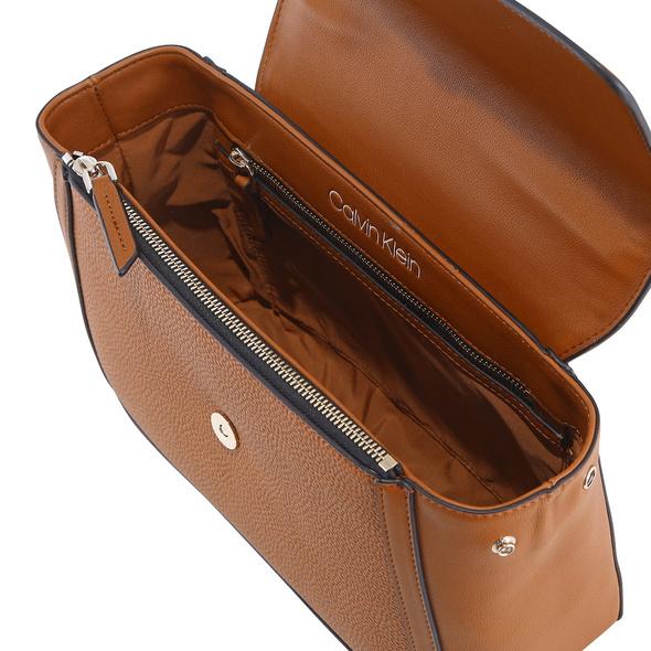 Calvin Klein Kurzgriff Tasche Flap Top Handle MD black