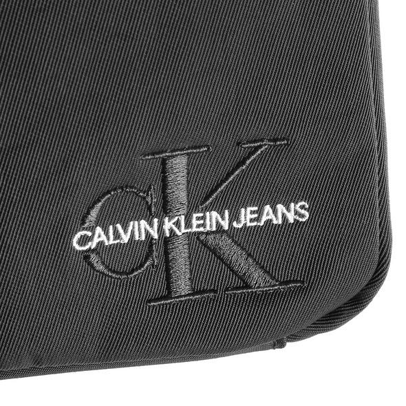 Calvin Klein Jeans Umhängetasche Monogram Nylon Micro Flatpack grey pinestripe