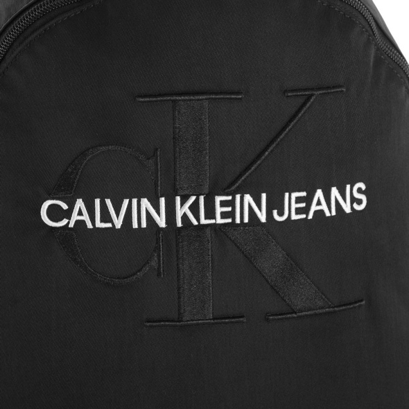 Calvin Klein Jeans Rucksack Monogram Nylon WO Pocket schwarz