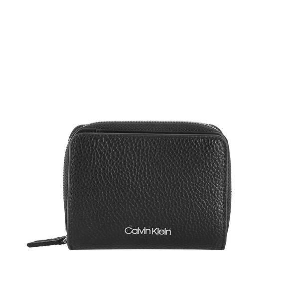 Calvin Klein Hochkantbörse Damen Sided Ziparound MD W Flap black