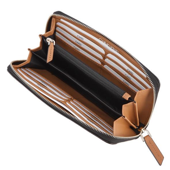 Calvin Klein Langbörse Damen CK Must Ziparound Wallet LG black