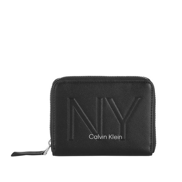Calvin Klein Hochkantbörse Damen NY Shaped Ziparound Wallet MD black