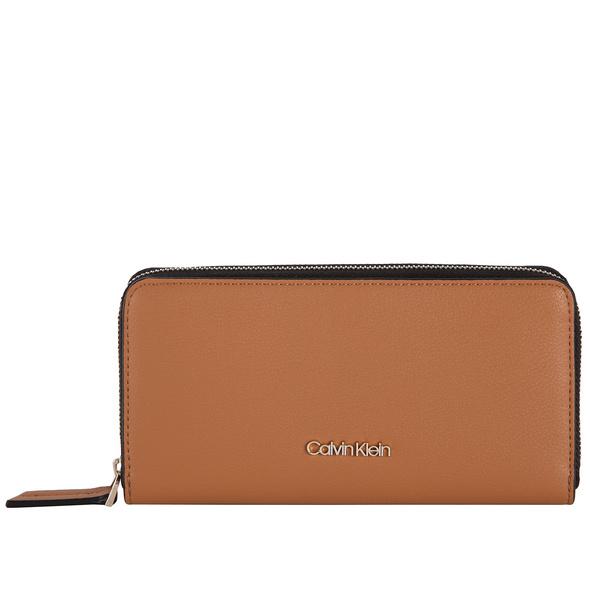Calvin Klein Langbörse Damen CK Must Ziparound Wallet LG cuoio