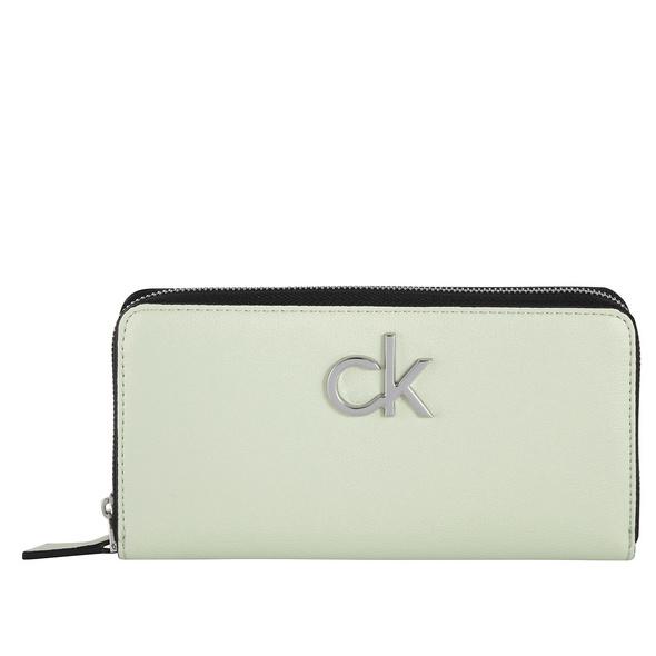 Calvin Klein Langbörse Damen Re-Lock Ziparound Wallet LG petal green